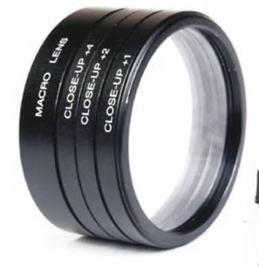 Numex 52mm close up lens filter kit +1 +2 +4 +10 macro 4 nikon D3000 D3200 18-55MM D40 D3300  available at amazon for Rs.399
