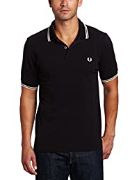 Fred Perry M1200 Polo para hombre, color negro/amarillo