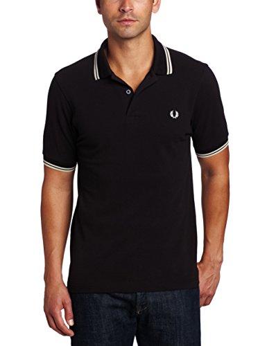Fred Perry Herren Poloshirt, Schwarz (Black), XX-Large