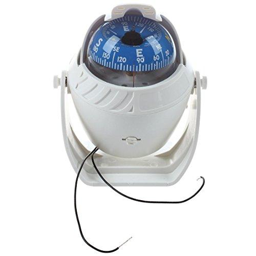 SODIAL(R) Big K LED palla bussola Bussola per barche Bussola marina Compass Compass Navigation bianco