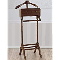 Simone Guarracino Valet Clothes Stand Albert 2 Drawers English Style Suit Stand Walnut