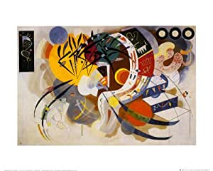 Reproduction d'art 'Courbe dominante (1936)', de Wassily Kandinsky, Taille: 50 x 40 cm