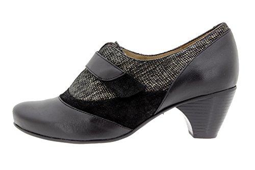 PieSanto Scarpe Donna Comfort Pelle 9406 Casual Comfort Larghezza Speciale Negro