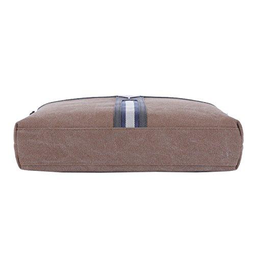 Yy.f Herrenmode Business-Tasche Casual Canvas Herren-Tasche Schlank Klassisch Praktische Office Bag Computer Tasche Reisetasche. Mehrfarbig Brown