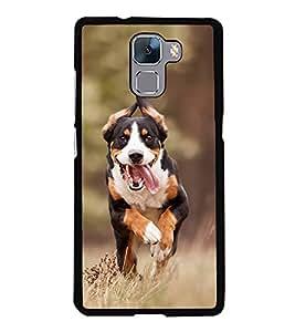 FUSON Running Dog On Filed Designer Back Case Cover for Huawei Honor 7 :: Huawei Honor 7 (Enhanced Edition) :: Huawei Honor 7 Dual SIM
