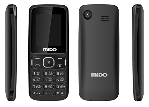Mido M88+ Dual Sim Feature Phone (Black) offer