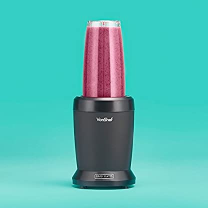 VonShef-UltraBlend-Standmixer-Smoothie-Maker-1000-W-800ml-und-500ml-Behlter-1-schwappsicherer-Deckel-1-Sip-Seal-Deckel