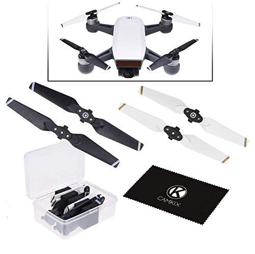 CamKix Propeller Kompatibel mit DJI Spark - 1 Set (4 blätter) - Schwarz+Weiß - Praktischer Aufbewahrungsbox - Quick Release Flügel - Fluggetestetes Design - Unverzichtbares Accessoire -