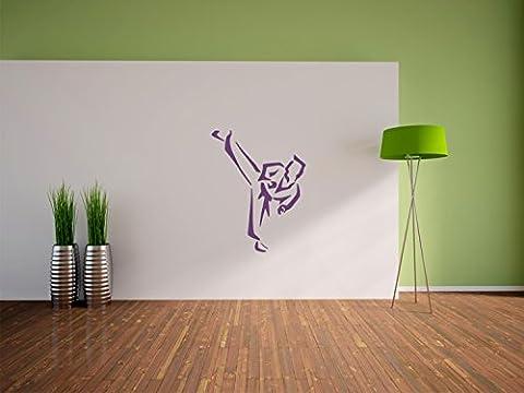 Taekwondo combattants de taille Stickers muraux: 300x230 mm_a murales, stickers muraux, stickers muraux de décoration pour le salon, chambre à coucher et la chambre des enfants