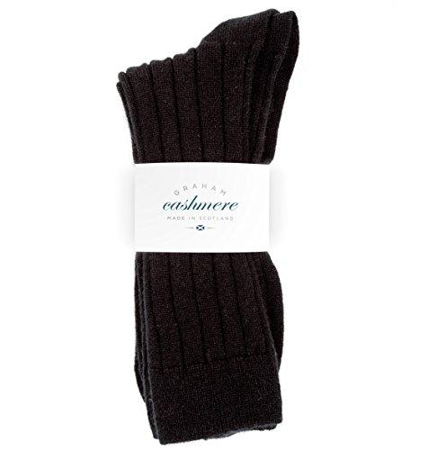 Pringle Cashmere (Graham Cashmere Herren Socken schwarz schwarz Gr. 44-46, schwarz)