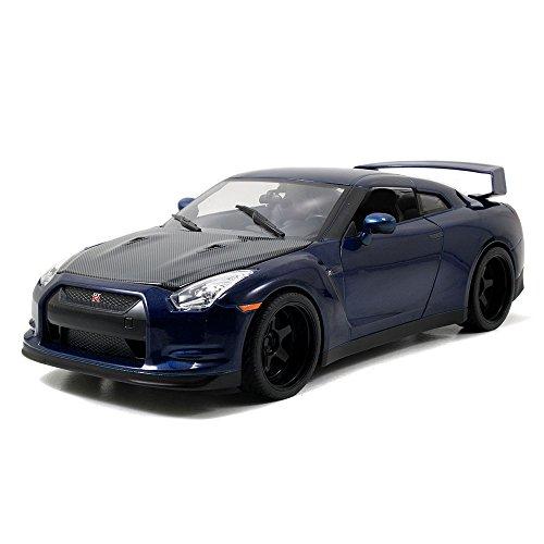 2009 Nissan GT-R R35 blau Fast & Furious 7 Brian in 1:18 Jada Toys 97035