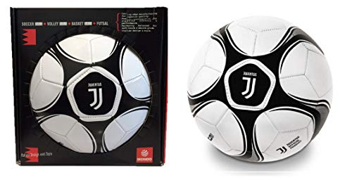 Mondo Juventus F.C. Leather Football in Gift Box, Juventus New Logo/Juventus Lederfußball in Geschenkbox