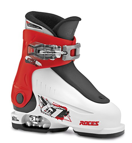 Roces Kinder Skischuhe Idea Up Größenverstellbar, White-Red-Black, 25/29, 450490-015 (Plastik Kinder Ski)