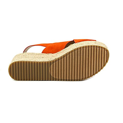Nine West Beachy Toile Talons Compensés Orange