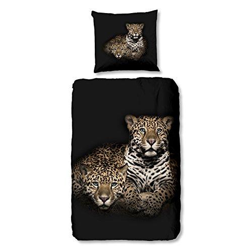 Good Morning Bettwäsche 5945 Leopard Wildkatze Raubkatze Tiermotiv 135 cm x 200 cm