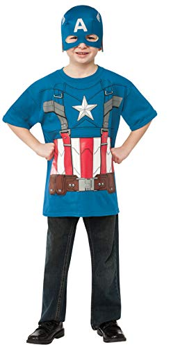 l Captain America T-Shirt Child Costume Large ()