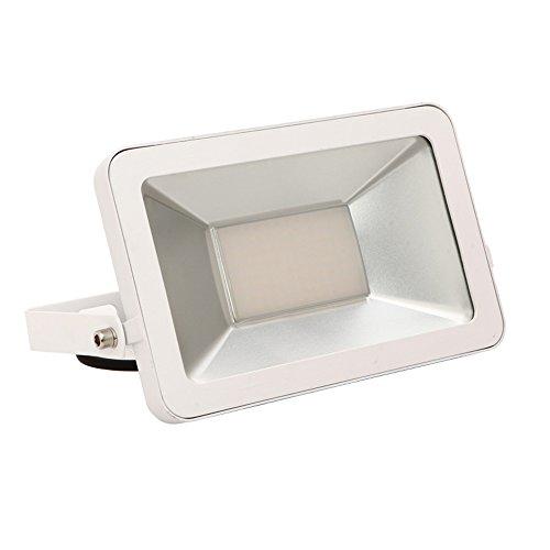 MCTECH® Ultraslim 50W LED Strahler Fluter Außenstrahler IP66 Wasserfest Außenleuchten SMD Flutlicht (50W Kaltweiß) -