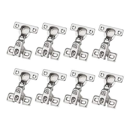 LOOTICH 90 Grado Semi Solapado 26mm Soft Close Mini Bisagras Compacta con...