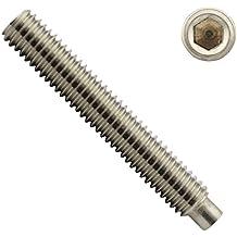 OPIOL QUALITY Maden-Schrauben 10 St/ück Madenschrauben Gewindestifte M4 X 25 mit Innensechskant und Zapfen DIN 915 Edelstahl A2 | Gewindeschrauben