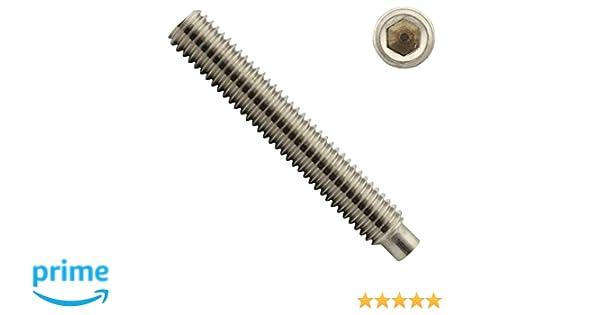- Madenschrauben ISO 4028 50 St/ück DIN 915 - SC915 SC-Normteile - aus rostfreiem Edelstahl A2 M5 x 16 mm - V2A Gewindestifte mit Innensechskant und Zapfen