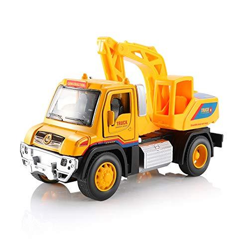 Hobabld Auto Spielzeug Kinder trecker Widerstand gegen das Fallen Baufahrzeug Bagger Modell Strand Kind Junge Spielzeug Simulation Trägheit Bagger Auto,C