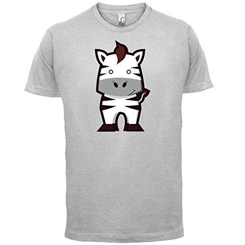 Cute Zebra - Herren T-Shirt - 13 Farben Hellgrau