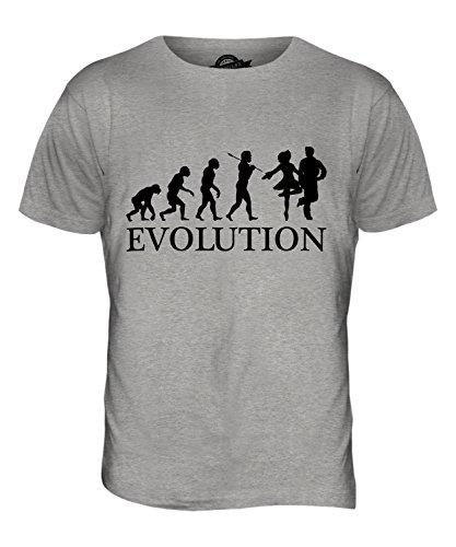CandyMix Danza Irlandese Evoluzione Umana T-Shirt da Uomo Maglietta Marne Grigio