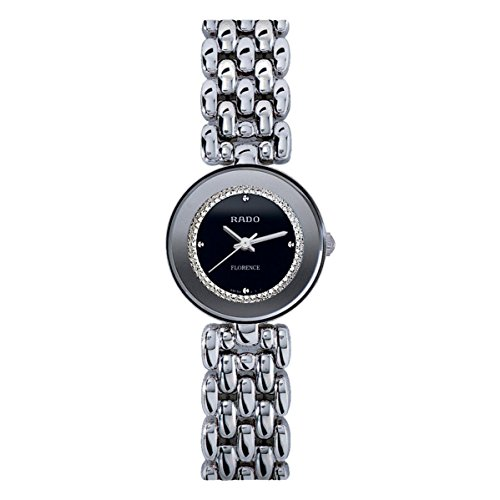 Rado R48744163 - Orologio da polso da donna, cinturino in acciaio inox colore argento