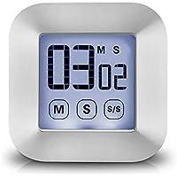 XREXS Touchscreen Digitaler Küchentimer Magnetisch Stoppuhr LCD Display Elektronische Timer Eieruhr mit Stand, lauter Wecker, Kochen Timer für Studium/Workout/Cook (Batterien Inklusive)