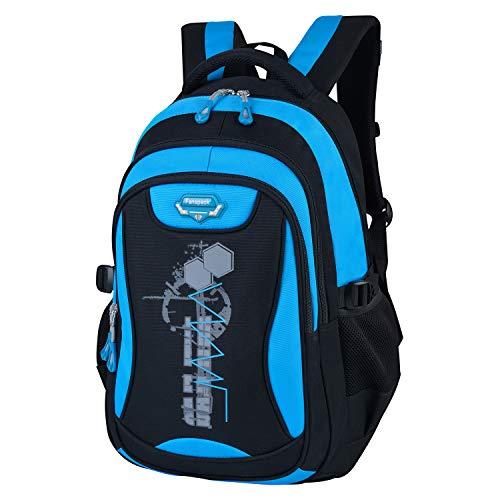 Schulrucksack Jungen Teenager, Fanspack Schulranzen Jungen School Bags for Boys Schultaschen Groß Kapazität Rucksäcke Männer
