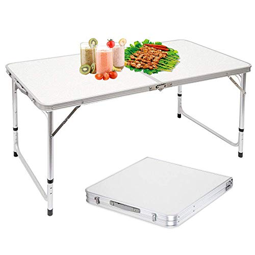 Nestling® - Mesa Plegable Multifuncional con Altura Ajustable,Plegable Portátil Mesa De Comedor, Camping...