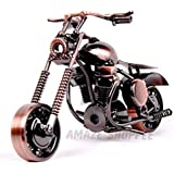 AMAZE SHOPPEE Metal Vintage Motor Bike Miniature, Standard, Brown, 1 Piece