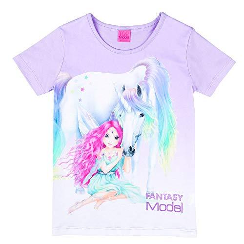 Top Model Fantasy Mädchen T-Shirt, lila, violett Größe 140, 10 Jahre