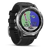 Garmin Fēnix 5 Plus Sportsmartwatch, GPS, met Muziek, Kaarten en Garmin Pay, Zilver met Zwarte Band