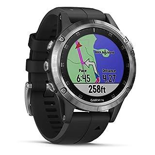 Garmin fenix 5 Plus Schwarz Multisport-Smartwatch - Europakarte, Musikplayer, kontaktloses Bezahlen