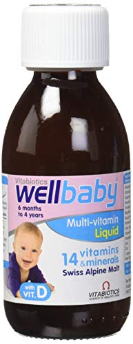 Vitabiotics Wellbaby Liquid, 150 ml (Infundiert Alkohol)