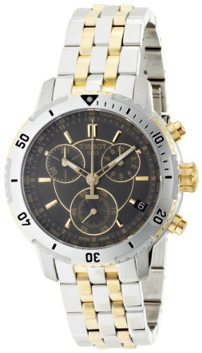 Tissot T0674172205100 - Reloj cronógrafo de caballero de cuarzo con correa de acero inoxidable multicolor