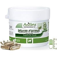 AniForte Wurm-Formel 10 Kapseln für Hunde, praktische und 100 Prozent natürliche Einmalgabe Bei und Nach Wurmbefall