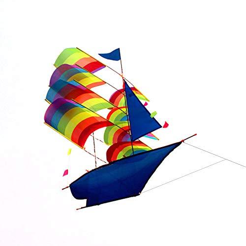 Lixada 3D Segelboot Kite für Kinder und Erwachsene Segelboot Flying Kite mit Schnur und Griff Outdoor Beach Park Sports Fun