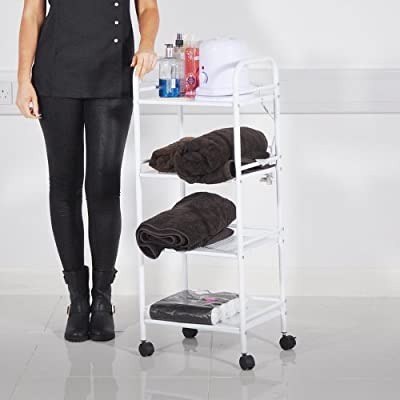 HEAVEN® Beauty Salon 4 Shelf Mini Side Trolley Therapy Dentist Hairdresser produced by Beauty4Less - quick delivery from UK.