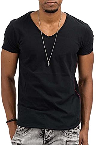 trueprodigy Casual Homme tee shirt uni basique, vetements swag marque