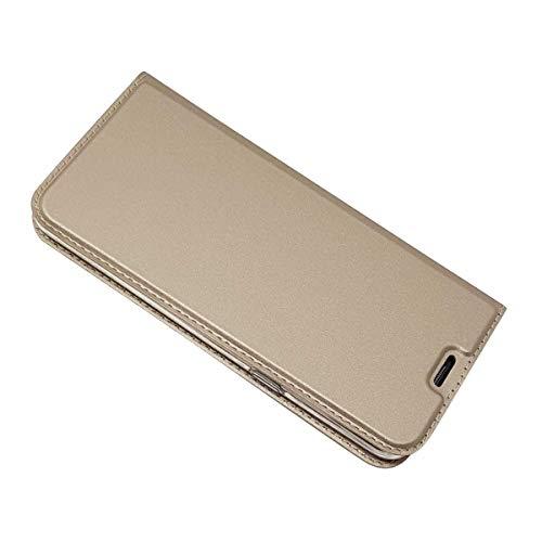 Cover per Samsung Galaxy S8 Plus, DENDICO Portafoglio Libretto Bumper Portafoglio Custodia, Magnetica Flip Custodia Caso Libro e TPU Silicone con Funzione Supporto - Oro
