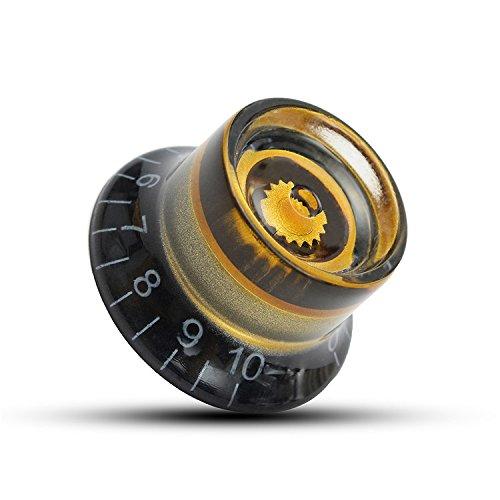 VIDOO Botones De Velocidad De Voz Volumen Plástico Guitarra Eléctrica Oro Negro 1Pc para Les Paul Guitarra