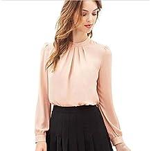 Culater® Las Mujeres del verano ocasional de la gasa de manga larga tops camisa blusa