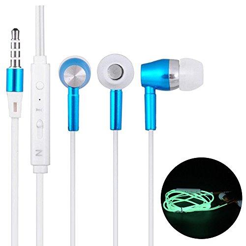 ChallengE Auricolari Cuffie con cavoAuricolari per cuffie stereo con auricolare luminoso da 3,5 mm Cellulari e accessori economici (3,5 mm, Blu)