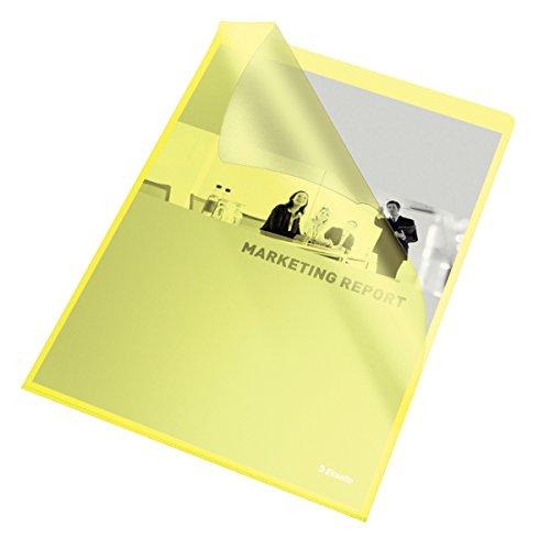 Esselte Copy-safe Klarsichthülle Cut Flush (DIN A4), 100 Stück gelb