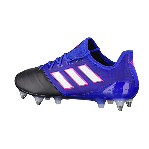 adidas Herren Ace 17.1 Leather SG für Fußballtrainingsschuhe, UK Blau (Azul/ftwbla/negbas)