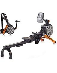 Nordic Track RX800 Rowing Machine, Air-Resistant, Adult, Unisex, Black and Orange, 220 cm