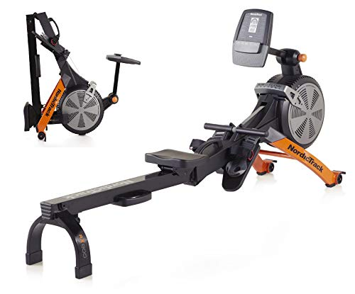 Nordic Track Rameur RX800, résistance à air Adulte Unisexe, Noir et Orange, 220cm