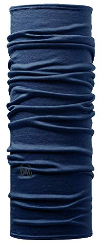 Buff solid, scaldacollo in lana merino unisex - adulto, denim, taglia unica